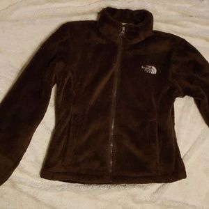 Brown north face osito jacket